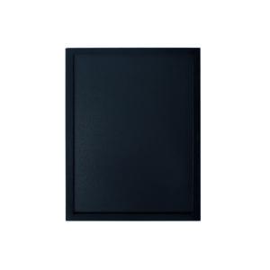 Holz Kreidetafel mit Rahmen schwarz, Wandtafel 60x80cm schwarz