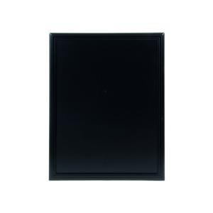 Kreidetafel mit Holzrahmen schwarz, beschriftbare Wandtafel schwarz 70x90cm