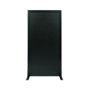 Aufstellbare Kreidetafel in Schwarz, Sichtschutz Kundenstopper für Bars