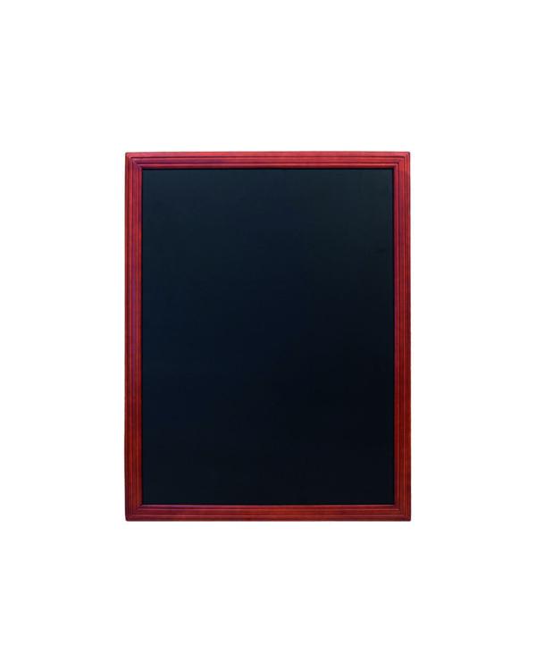 Hochwertige Kreidetafel aus Holt mit mahagoni Rahmen, Schwarze Kreidefläche zum Beschriften