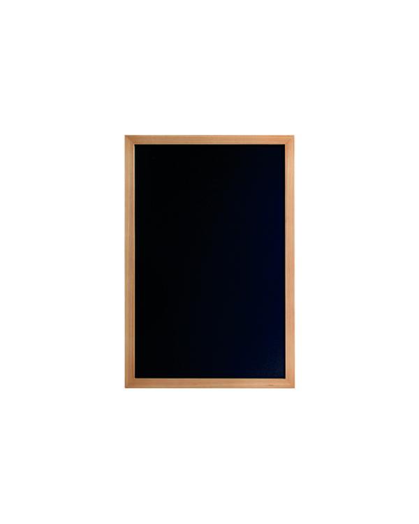 Menü Kreidetafel aus Holz, schwarze Kreidefläche zum Beschriftgen mit Kreidemarker