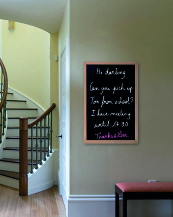 Wand Kreidetafel für Zuhause, beschriftet mit Kreide