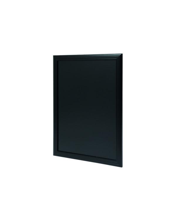 Wetterfeste Kreidetafel der Marke Securit, schwarz, 60x80cm, Seitenansicht