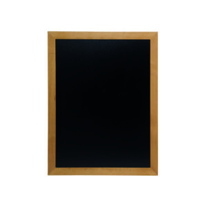 wetterfeste Holzkreidetafel mit hellbraunem Rahmen, Kreidetafel zum aufhängen