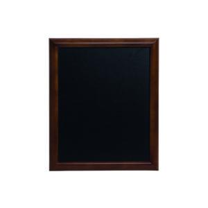 Dunkelbraune Kreidetafel mit Holzrahmen, gerundete Wandtafel mit Kreidetafelfläche, 60x80cm