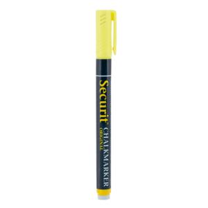 Gelber Kreidemarker mit 1-2mm von Securit für das Beschriften von Kreidetafeln, Kundenstopper und andere glatte Oberflächen-Kreidestift gelb