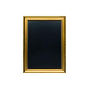 Goldene Kreidetafel 65x85cm mit schwarzer Kreidefläche, Wandtafel mit goldenem Holzrahmen