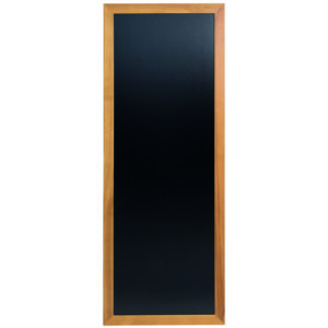 Hellbraune Holz Kreidetafel mit schwarzer Kreidefläche, 56x150cm, Securit Wandtafel