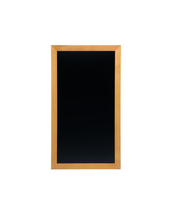 Hellbraune Kreidetafel mit flachem Holzrahmen, Premium Wandtafel mit schwarzer Kreidetafel Oberfläche