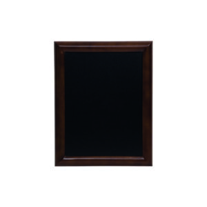 Holz Kreidetafel mit gerundetem Rahmen in dunkelbraun, Securit Wandtafel dunkelbraun, 50x60cm
