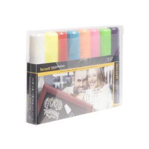 Kreidemarker farbig im 8er Set kaufen, Kreidestifte 7-15mm für das Beschriften von Kreidemarker und Kundenstopper
