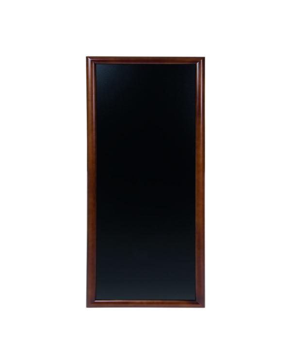 Kreidetafel mit gerundetem Holzrahmen, 56x120cm, dunkelbraune Holz Kreidetafel