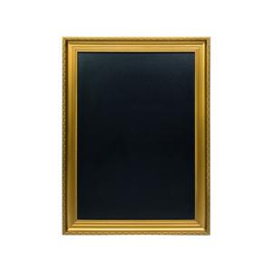 Kreidetafel mit goldenem Rahmen, Wandkreidetafel Gold Marke Securit, 75x100cm