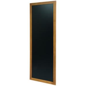 Lange Holz Kreidetafel mit hellbraunem Premium Rahmen, schwarze Kreidetafel mit Holzrahmen, 56x150cm