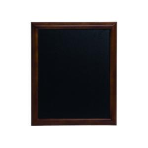 Wandkreidetafel mit dunkelbraunem Holzrahmen gerundet, 70x90cm Securit Kreidetafel