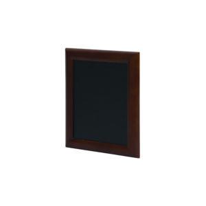 günstige Kreidetafel Securit mit schwarzer Kreidetafelfläche, gerundeter brauner Holzrahmen, 40x50cm