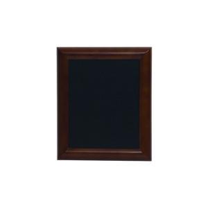 günstige Kreidetafel mit schwarzer Kreidetafelfläche, gerundeter brauner Holzrahmen, 40x50cm