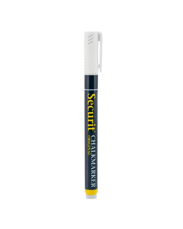 weisser Kreidemarker Securit für das Beschriften von Kreidetafeln, Kundenstopper und Glas-Weisser Kreidestift mit 2mm Spitze