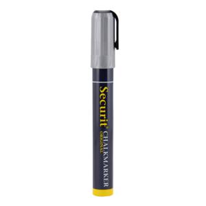 Kreidemarker silber mit 2-6mm Spitze, silberner Kreidestift Securit für das Beschriften von Kreidetafeln
