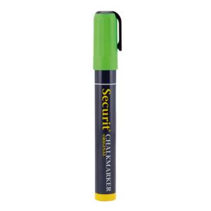 Kreidestift Grün mit 2-6mm Kreidespitze für das Beschriften von Kreidetafeln und Wandtafeln, dicker Kreidemarker grün Marke Securit