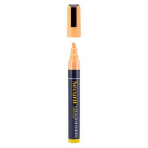 Oranger Kreidemarker für die Beschriftung von Gastro Kreidetafeln, 2-6mm Kreidestift von der Marke Securit in Orange