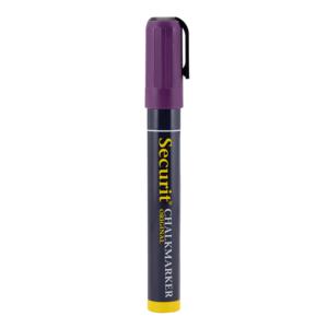 Violetter Kreidemarker Securit mit 2-6mm Spitze, abwischbarer Kreidestift für die Beschriftung von Kreidetafeln und Wandtafeln
