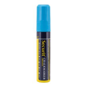 blauer Kreidemarker 7-15mm Securit für das Beschriften von Kreidetafeln, dicker Kreidestift in Blau von der Marke Securit