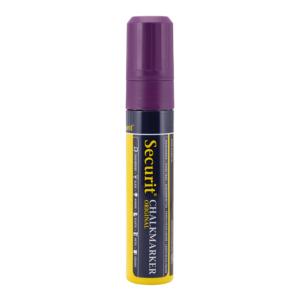 dicker Kreidemarker violette mit 7-15mm Strichbreite und Schreibfarbe violett, Kreidemarker Kreidestift Securit in Violett für Beschriftung von Kreidetafeln und Kundenstopper