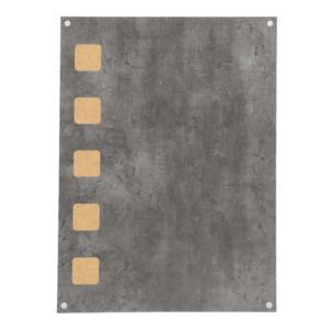 Kork Kreidetafel 58x78cm in Betonoptik für das Beschriften mit Kreidemarker und einsätzen von Pinnadeln für Fotos und Notizen