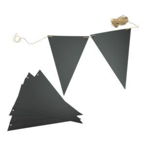 Kreidetafel Wimpelkette Kreidetafelflaggen zum Aufhängen an Kindergeburtstagen, Rahmenlose Kreidetafelflaggen Securit