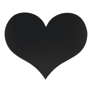 Herz Kreidetafel ohen Rahmen für Zuhause und Brautmodegeschäften, Kreidetafel Herzform Silhouette schwarz für als Wandkreidetafel