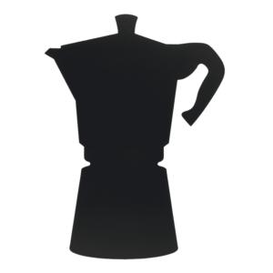 Kreidetafel Kaffeekannen Form Silhouette für Kaffeebars und Zuhause, Kanne Silhouette schwarz zum beschriften mit Kreidemarker