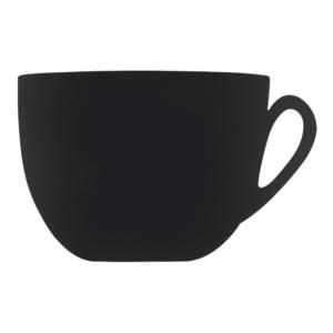 Kreidetafel Kaffeetassenform für Bars und Restaurants, Kaffee Kreidetafel schwarz für die Beschriftung mit Kreidemarker