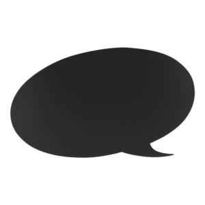 Kreidetafel Sprechblasen Form Silhouette zum Aufhängen an der Wand, Wandkreidetafel Sprechblase