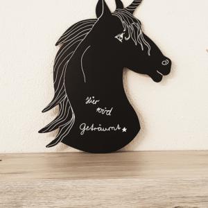 Kreidetafel Unicorn beschriftet mit Securit Kreidemarker weiss 1-2mm