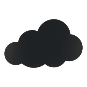 Kreidetafel Wolkenform zum Beschriften mit Kreidemarker Kreidestiften von Securit