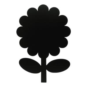 Kreidetafel ohne Rahmen in Blumenform Silhouette schwarz, Silhouette Blumenform von Securit