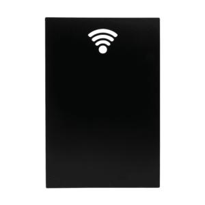 Rechteckie Silhouetten Kreidetafel mit WiFi Icon, Silhouette Form Kreidetafel eckig Securit mit WiFi