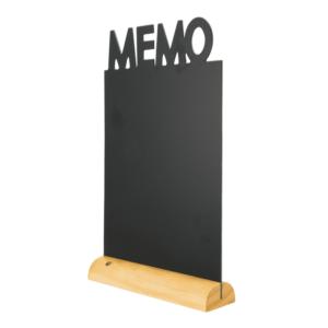 Securit Tischkreidetafel Aufsteller Memo zum Beschriften mit Kreidemarker Kreidestiften