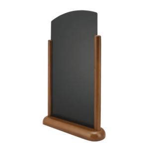 Securit Tischkreidetafel Aufsteller mit dunkelbraunem Holzrahmen und austauschbarer Melamin Tafel DIN A4