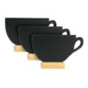 Securit Tischtafel Aufsteller in Kaffeetassenform mit beschriftbarer Kreidetafel für Kreide und Kreidemarker, 3er Set