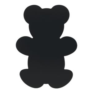 Teddybär Kreidetafel Silhouette für Kinder, rahmenlose Kreidetafel Teddybär Form