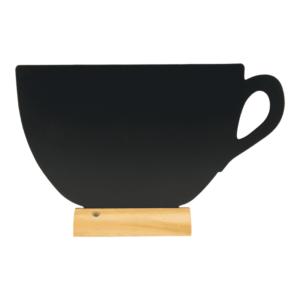 Tischtafel Kaffeetasse zum Beschriften mit Securit Kreidemarker