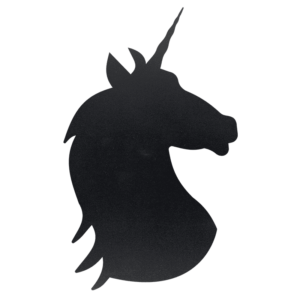 Unicorn Kreidetafel Silhouette für das Beschriften mit Securit Kreidemarker