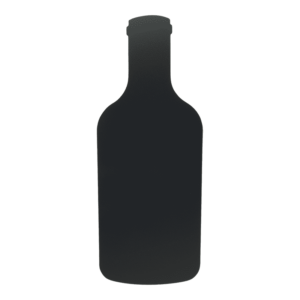 Wandkreidetafel Flaschenform schwarz für Bars und Restaurants, Restaurant Wandtafel Flaschenform für Beschriftung mit Kreide