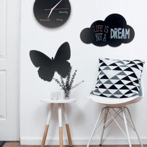Wolken Kreidetafel montiert an der Wand, Kreidetafel Silhouette Wolke aufgehängt als Wandkreidetafel Zuhause im Kinderspielzimmer