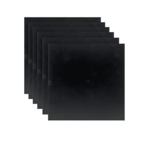 XXL Kreidetafel Silhouette ohne Rahmen 40x40cm, grosse Kreidetafel Securit 6er-Set