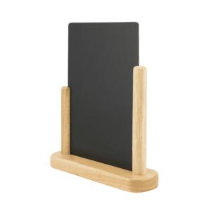 elegante Securit Tischtafel aus Holz zum beschriften mit Securit Kreidemarker