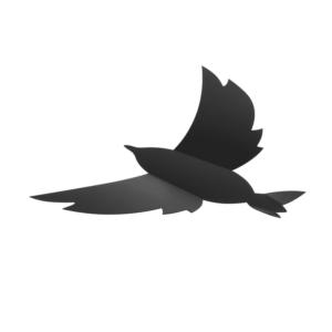 3D Kreidetafel in Vogelform im 7er Set