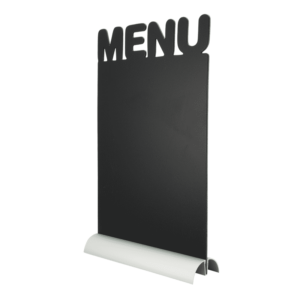 Menü Tischkreidetafel Aufsteller mit Aluminiumfuss beschriftbar mit Kreide und Kreidemarker